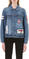 Boy London Patch-appliqué denim jacket