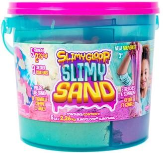 Slimygloop Slimgyloop SlimySand 3 - In - 1 5 lb Bucket - Pink / Purple / White Glitter