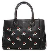 CONTEMPORARY Embellished Tulip Gotham Leather Tote Bag