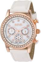 August Steiner Women's ASA818WT Swiss Quartz Multi-Function Dazzling Fashion Watch