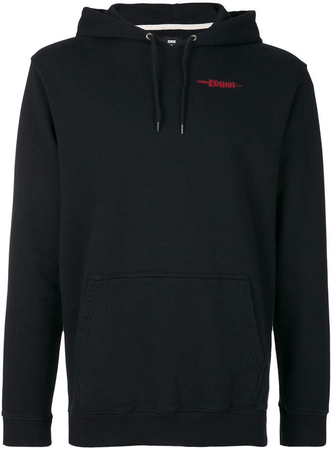 Edwin logo print hooded sweatshirt