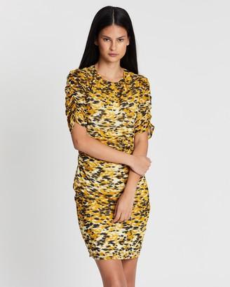 Whistles Ikat Animal Silk Body-Con Dress