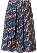 Peter Jensen cat print pleated skirt