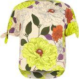 River Island Womens RI Plus cream floral print top