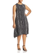 Vince Camuto Plus Sleeveless Electric Lines Dress