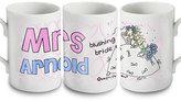 Bang On The Door Personalised Wedding Bride Mug