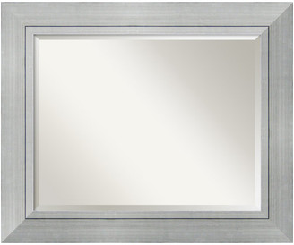 """Amanti Art Wall Mirror Large, Romano Silver, Outer Size 35""""x29"""""""