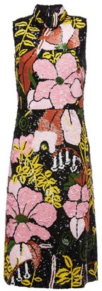 La DoubleJ Gala Sequin Floral Sheath Dress