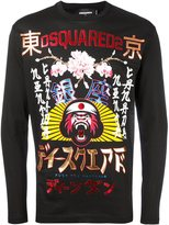 DSQUARED2 embroidered long sleeved T-shirt