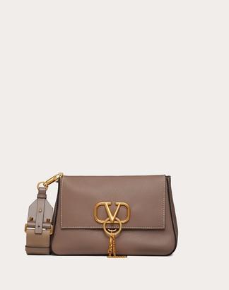 Valentino Small Vring Grainy Calfskin Crossbody Bag Women Clay 100% Pelle Di Vitello - Bos Taurus OneSize
