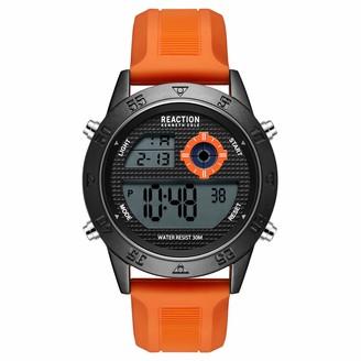 Kenneth Cole Men's Quartz Sport Watch with Silicone Strap Orange 24 (Model: RK51107002)
