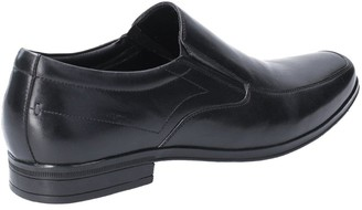 Hush Puppies Billy Slip On Leather Shoes - Black