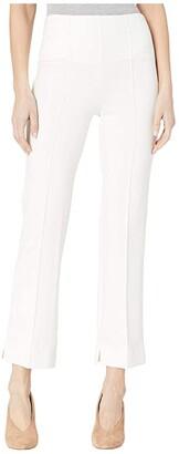Lysse Harley Wide Leg Crop in Lightweight Ponte (Off-White) Women's Casual Pants