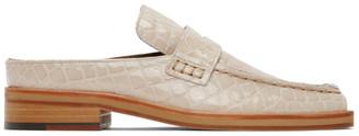 Martine Rose White Croc Arches Slippers