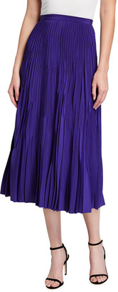 Akris Punto A-Line Pleated Midi Skirt
