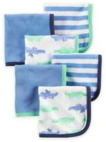 Carter's 6-Pack Alligator Washcloths in Blue/Green