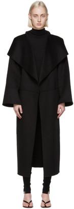 Totême Black Wool Cashmere Annecy Coat