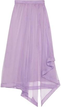 Gucci Sheer Draped Skirt