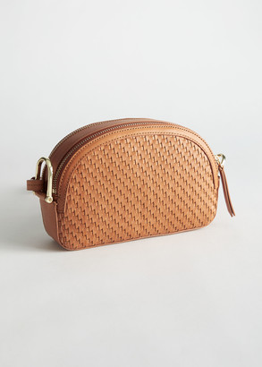 And other stories Braided Leather Half Moon Crossbody Bag