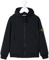 Stone Island Junior logo patch jacket
