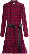 Diane von Furstenberg Printed Silk Shirt Dress