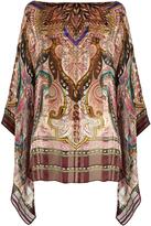Etro Paisley-print silk poncho