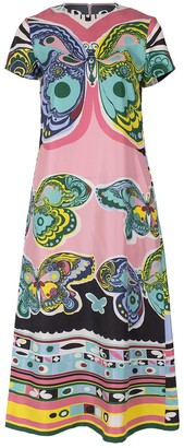 La DoubleJ Butterfly Print Swing Dress