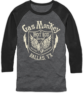 Fifth Sun Gray & Black 'Gas Monkey' Blitzkrieg Raglan Tee - Men's Regular