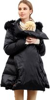 Sweet Mommy Fur Hood Maternity and Babywearing Down Coat BKLL