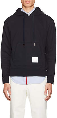 Thom Browne Men's Striped-Back Cotton French Terry Hoodie - Navy