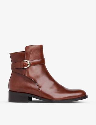 LK Bennett Annie buckle-strap leather ankle boots