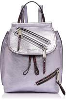 Marc Jacobs Zip Pack Embossed Trim Metallic Leather Backpack