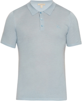 Burberry Short-sleeved wool and silk-blend polo shirt