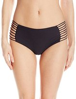Luli Fama Women's Verano De Rumba Multi Strings Highwaist Bikini Bottom