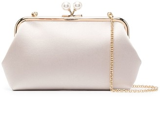 Anya Hindmarch Clasp-Fastening Recycled Silk Clutch Bag