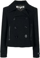 McQ by Alexander McQueen cropped peacoat - women - Polyester/Viscose/Virgin Wool - 36