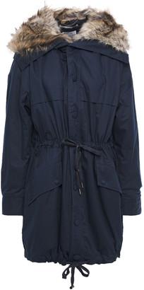 Stella McCartney Faux Fur-trimmed Cotton-twill Hooded Parka
