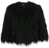 Theory synthetic fur jacket