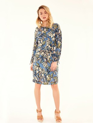Suncoo Cecile Floral Dress - 10 - Blue