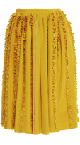 Rochas Pleated Ruffled Midi Skirt