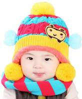George Jimmy Winter Baby Kids Girls Boys Hats Warm Scarf Caps Plush Ear Protect Gift Set