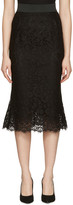 Dolce & Gabbana Black Macrame Pencil Skirt