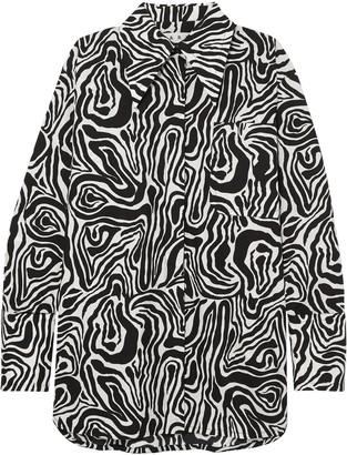 Marni Oversized Zebra-print Cotton-poplin Shirt