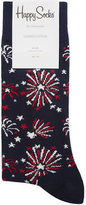 Happy Socks Firework Print Cotton-blend Socks