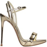 Le Silla Sandals In Platinum Leather