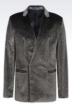 Emporio Armani Jacket In Glitter Print Velvet