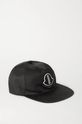 Moncler + Rick Owens Appliqued Shell Baseball Cap - Black
