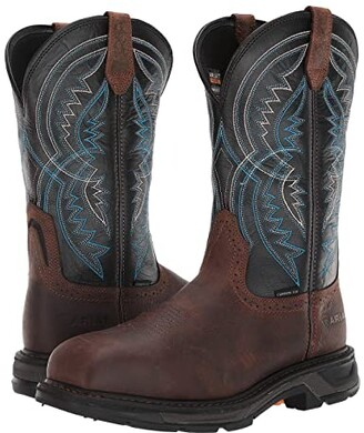 Ariat WorkHog(r) XT Coil Wide Square Toe Carbon Toe (Earth/Twilight) Men's Work Boots