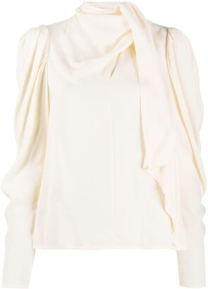 Ulla Johnson High Neck Draped Blouse
