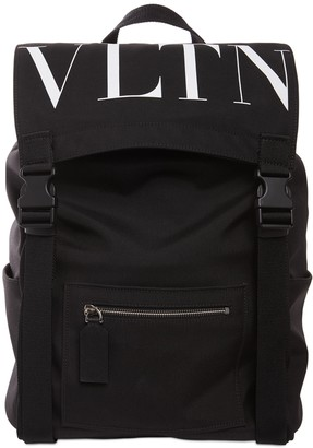 Valentino Logo Nylon Backpack